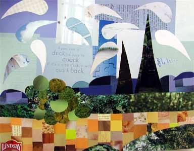 Week 17 Landscape Collage Comprehensive Art