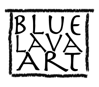 Blue lava Art