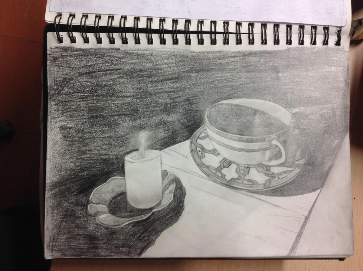 Elliptical Cup And Saucer Art Education Jessica Russo Scherr